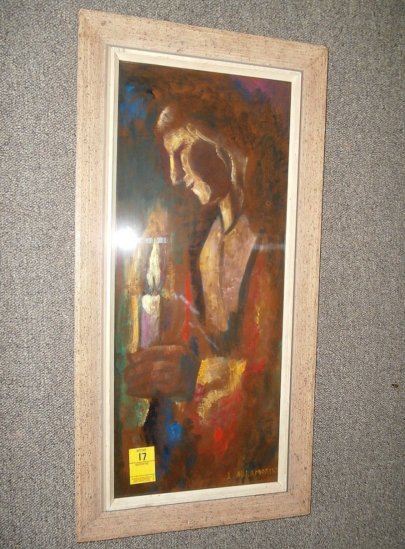 Israel Abramofsky Woman Holding Candle
