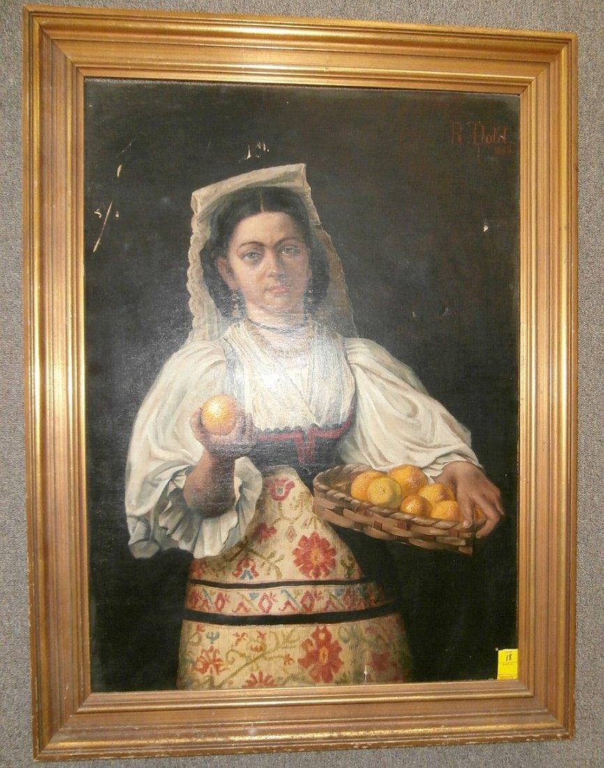 R. Dold 1885 Large Portrait of a Woman