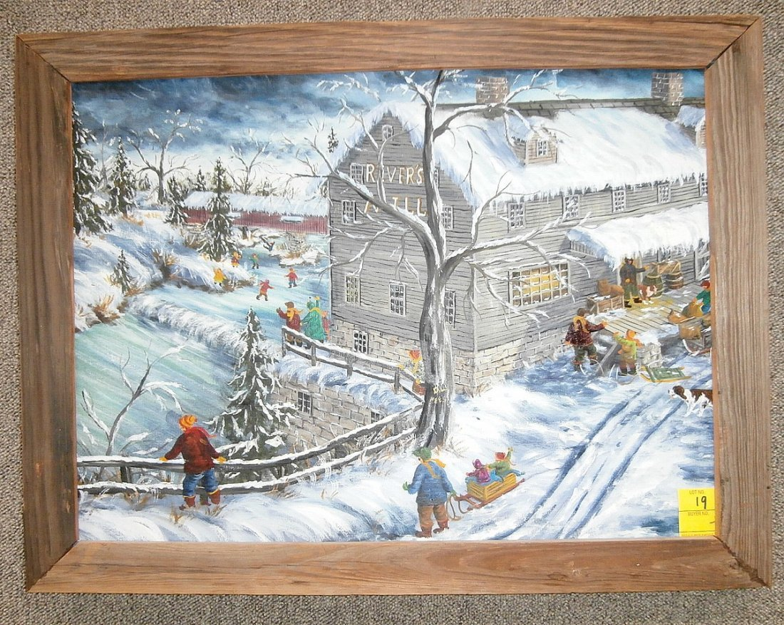 """Gerald Lee Nees """"Old Time Winter Life"""""""