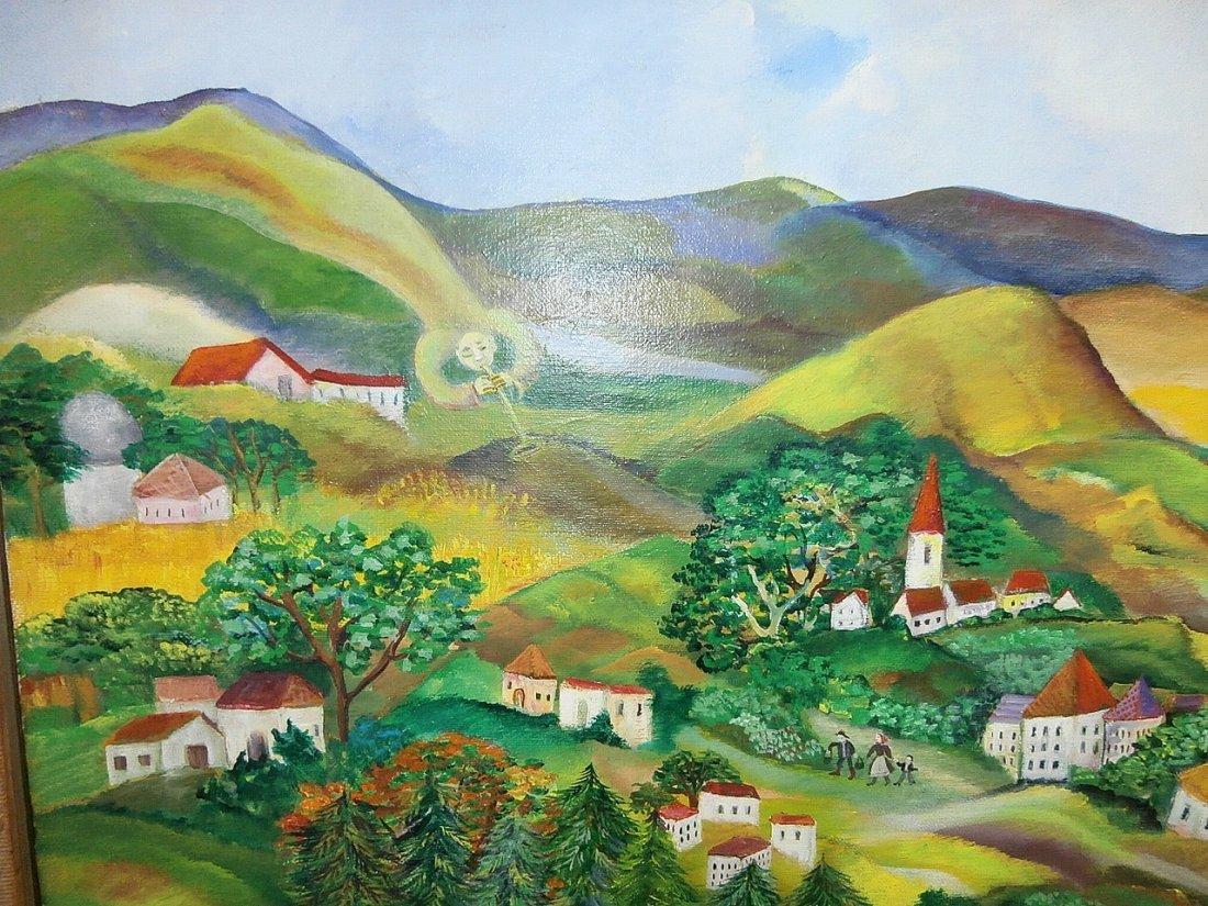 Eszter Gyory Folk Art Peaceful Village 1982 - 4