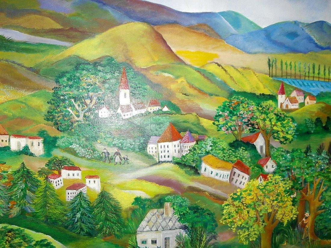 Eszter Gyory Folk Art Peaceful Village 1982 - 5