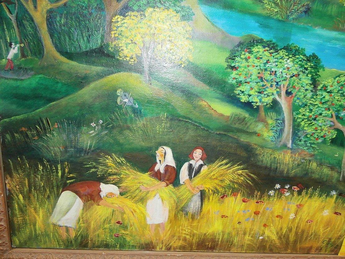 Eszter Gyory Folk Art Peaceful Village 1982 - 6