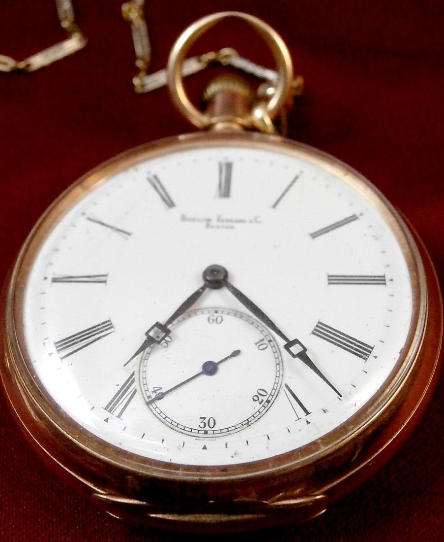 Bigelow Kennard Boston 14K Pocket Watch and Fob - 2
