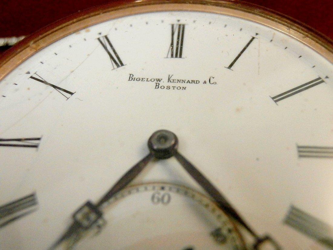 Bigelow Kennard Boston 14K Pocket Watch and Fob - 3