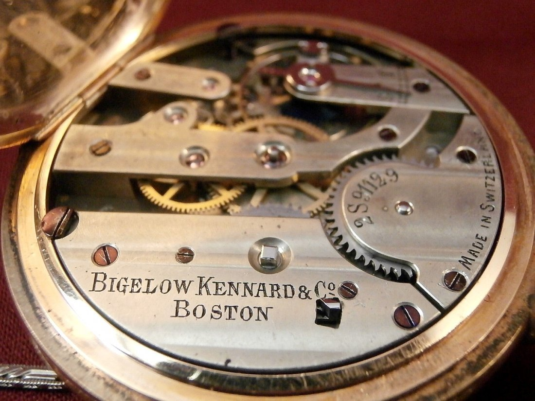 Bigelow Kennard Boston 14K Pocket Watch and Fob - 6
