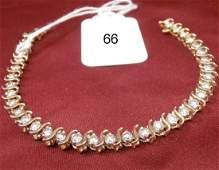 14K Yellow Gold 3 12cttw Diamond Tennis Bracelet