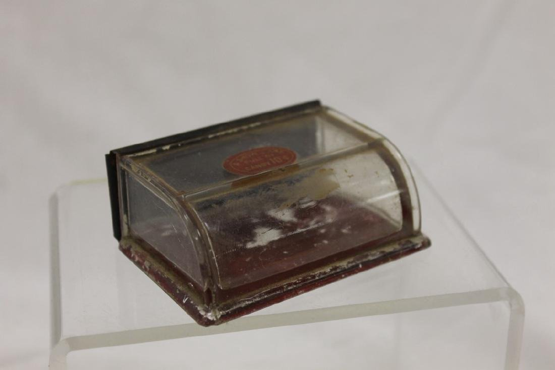 Display Case candy container with curved front and