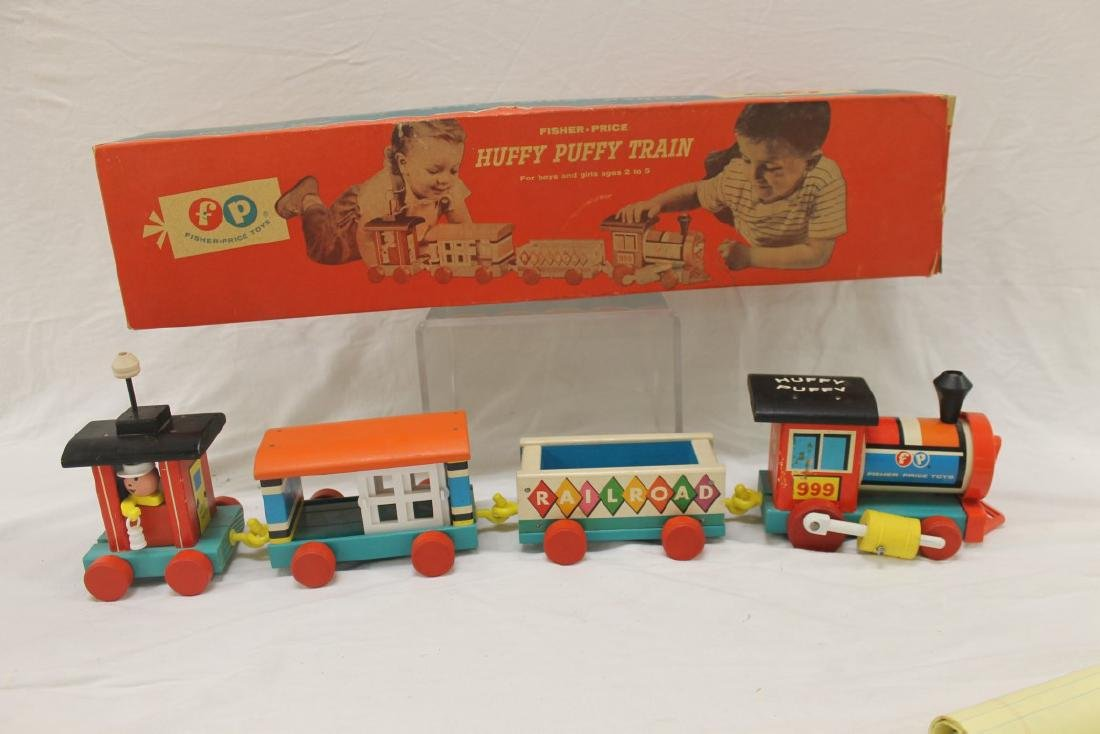 Fisher Price Huffy Puffy Railroad, No. 999, c. 1963,