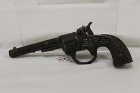 "Stevens ""Eagle"" (E-3) cast iron cap gun, c. 1895, 7"