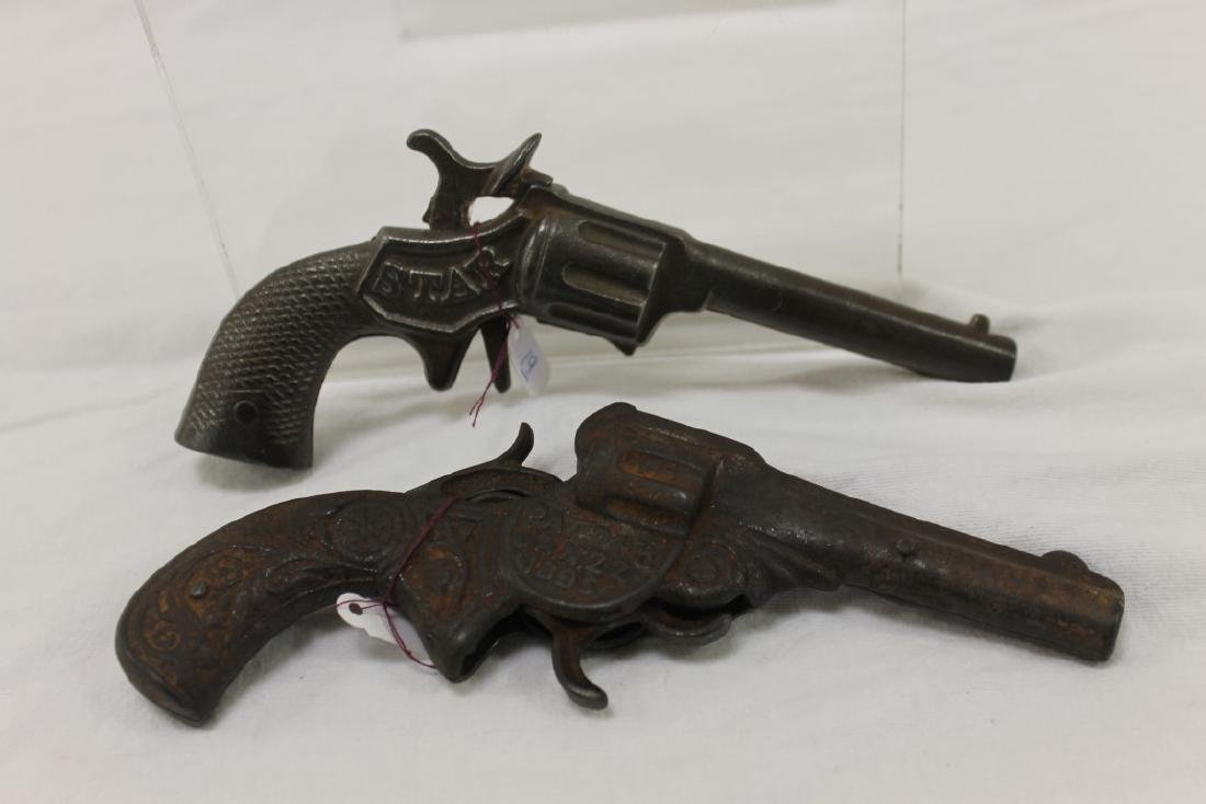 Stevens cast iron cap guns:  Star (S-29), c. 1890, 6 - 2