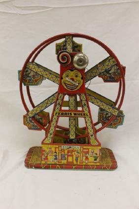 Chein Hercules tin lithograph ferris wheel, no axle to
