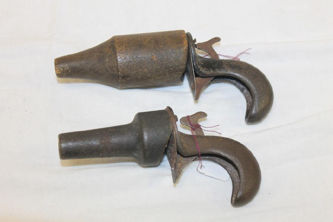 "Milton Bradley ""Peg Shooters"", c. 1890, 5 1/2"" and 4"