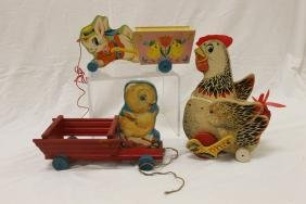 Fisher Price Toys: The Cackling Hen, No. 120, C. 1958,