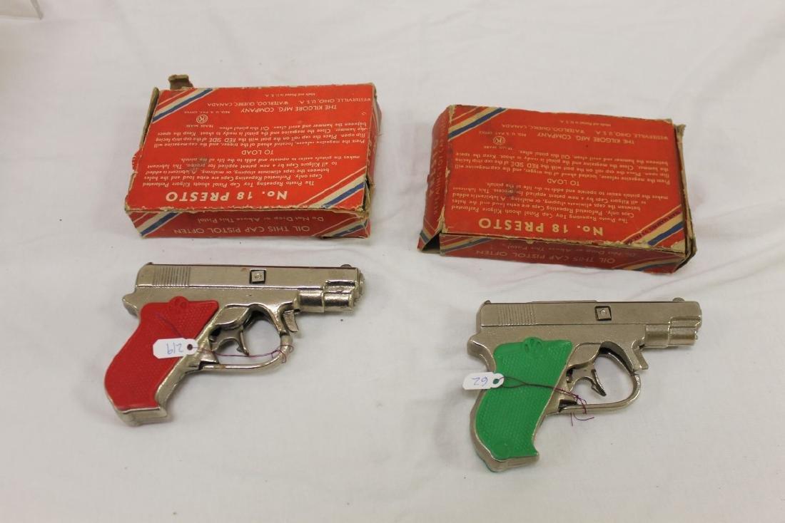 "(2) Kilgore ""Presto"" 50 Shot cast iron cap pistols, c. - 2"