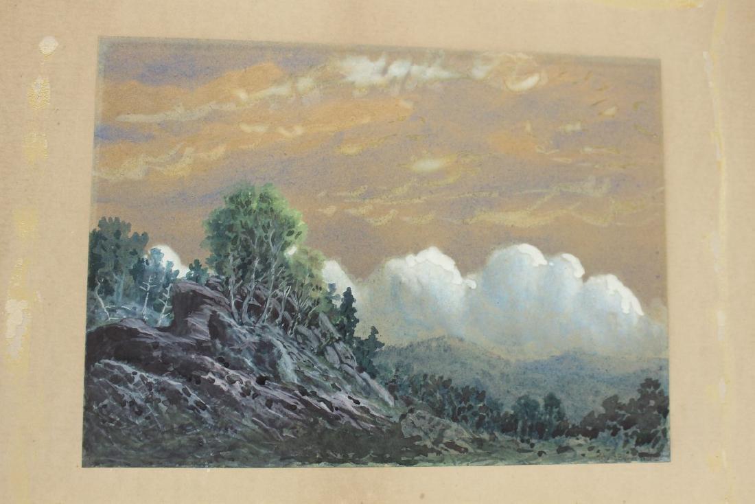Robert Burns Wilson watercolor of a rocky landscape