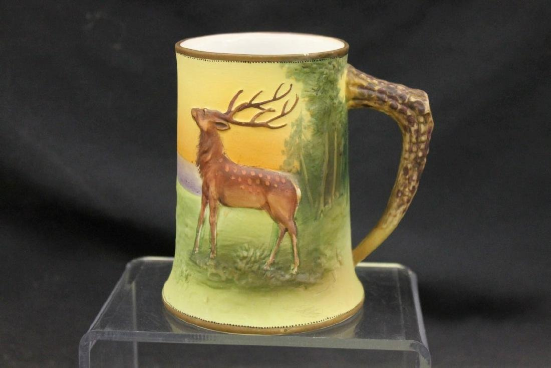 "Nippon Green M in wreath 4 3/4"" Elk/stag"