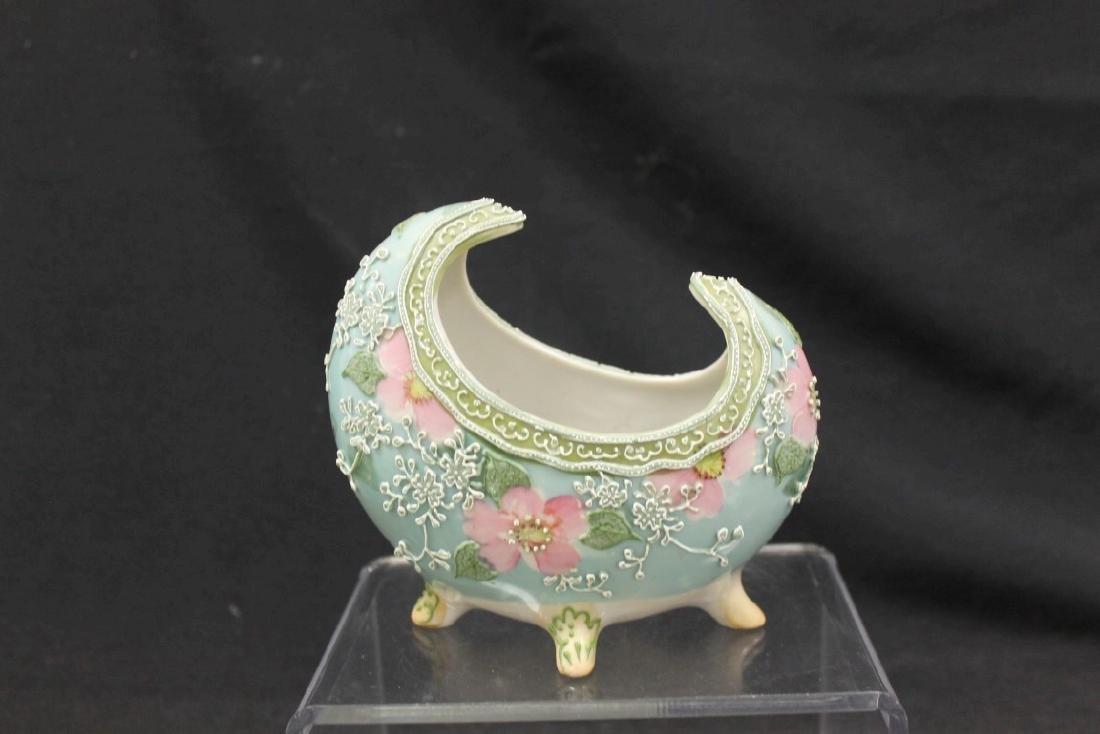 Royal Moriye Nippon 4-footed boat shaped  vase with