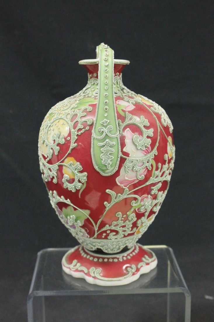 Unmarked Nippon two handled vase - 2