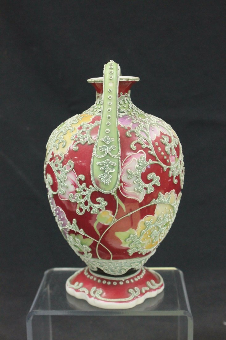 Unmarked Nippon two handled vase - 4