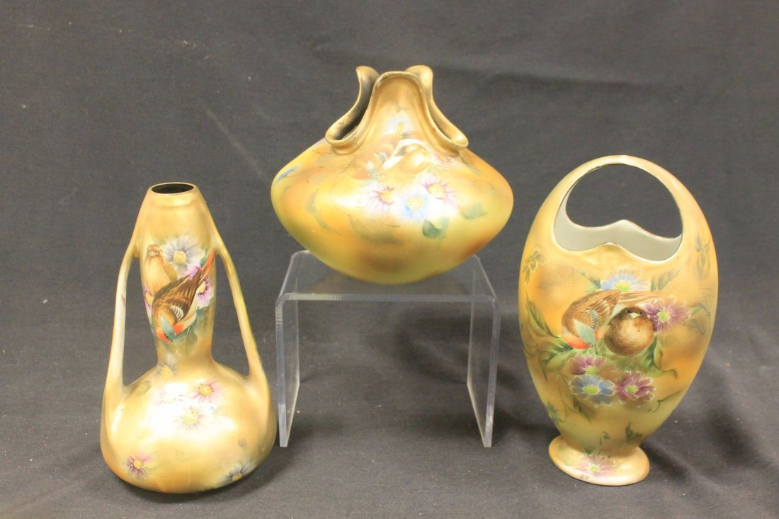 Royal Kinran Nippon vases.