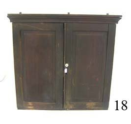 "18: Mixed wood hanging wall cupboard.  40 1/2"" tall 43"