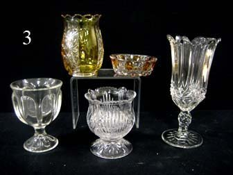 3: Pattern glass grouping - Tulip with sawtooth celery,