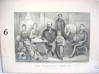 6: Currier & Ives - The Garfield Family.  App. 17 3/4""