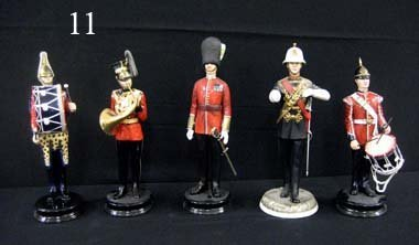 "11: Michael Sutty, England, 12"" Military figures (5)."