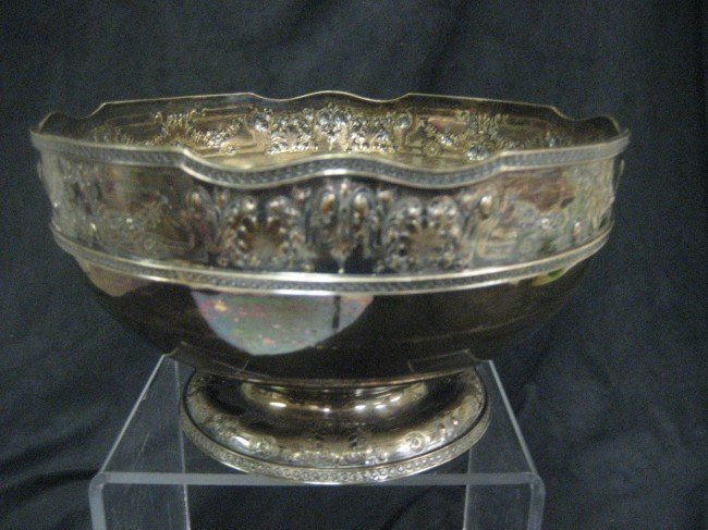 "1: Gorham sterling silver pedestal 10"" bowl with shell"