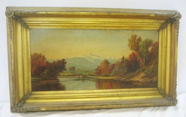 "6: Prang chromolithograph of A.T. Bricker's ""Late Autum"