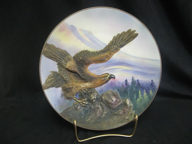 8: Nippon Green M with wreath eagle molded plaque.
