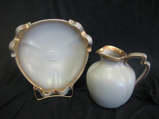 1: Keramos Wien Made in Austria art deco bowl and pitch