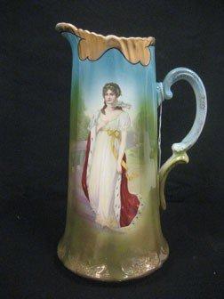 "8: Queen Louisa portrait tankard.  13 1/2"" tall.  Some"