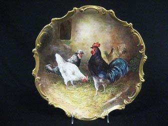 "15: LRL Limoges 15 1/2"" barn yard plaque signed Barbari"