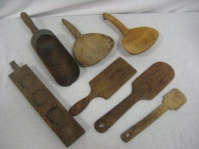 2: Group of wooden tools.