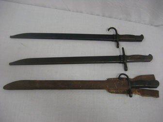 3: Lot of (3) WWII Japanese bayonettes.