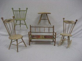 9: Grouping of doll furniture.