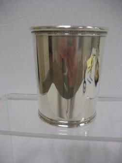18: Presidential sterling silver Julep cup.  LBJ - John