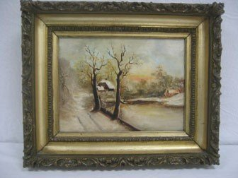 75: Victorian oil-on-canvas painting of a Hudson River