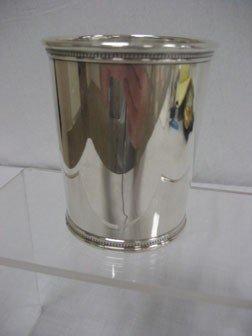 190: Presidential sterling silver Julep cup.  LBJ - Joh