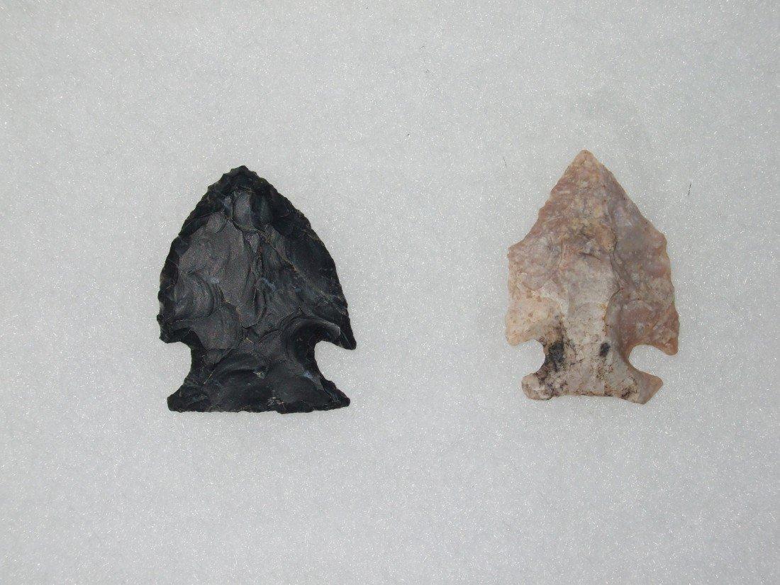 "3: (2) 1 1/4"" Intrusive Mound Points found Ohio River"