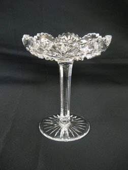 "14: Pitkin & Brooks 10"" cut glass ""King George"" compote"