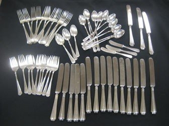 "15: Durgin ""Farifax"" sterling silver flatware.  53 piec"