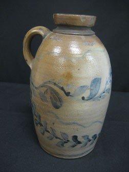 "89: Fine 9 1/8"" cobalt decorated snuff jug with three c - 2"