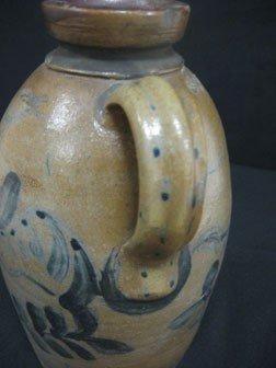 "89: Fine 9 1/8"" cobalt decorated snuff jug with three c - 3"