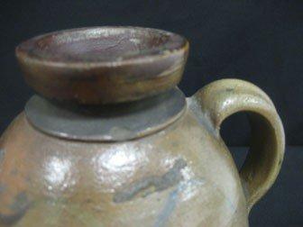 "89: Fine 9 1/8"" cobalt decorated snuff jug with three c - 5"