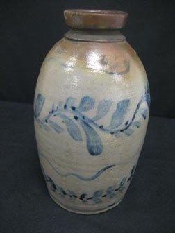 "89: Fine 9 1/8"" cobalt decorated snuff jug with three c - 6"