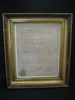 9: Kentucky Land Office Warrant signed by Governor John