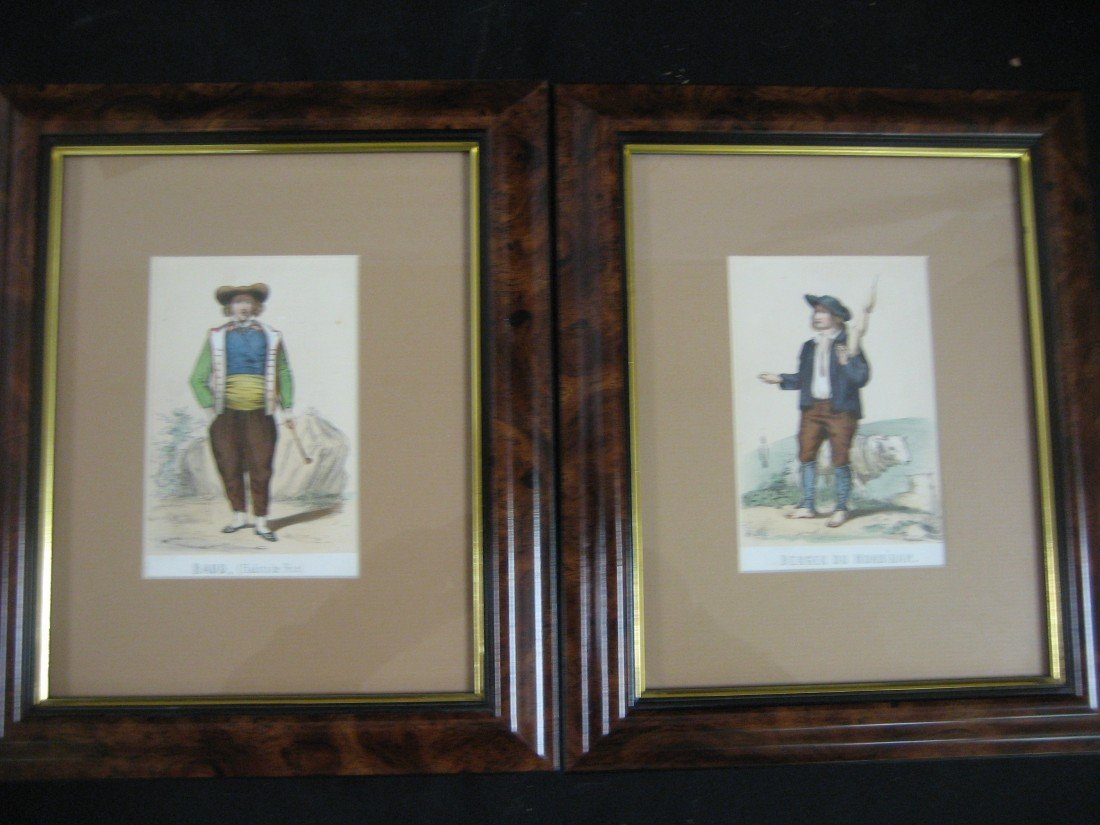 19A: Set of twelve peasant prints, some with hand color