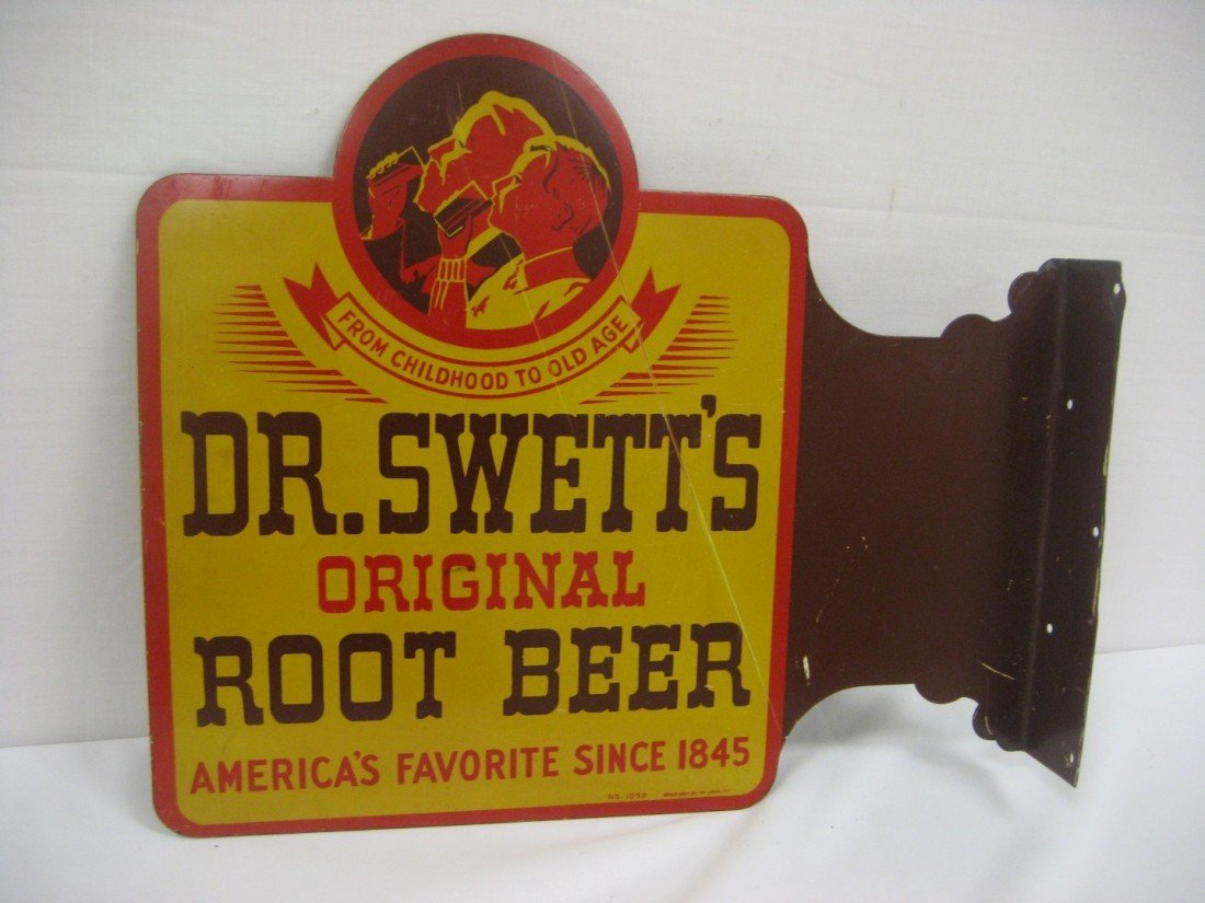 7: Dr. Swett's Oringal Root Beer double side flange sig